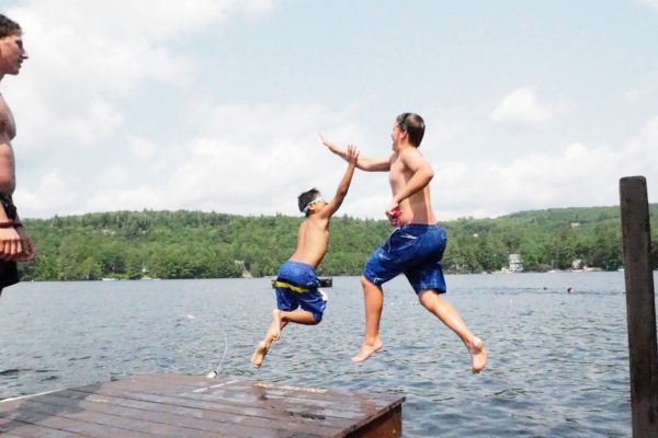 Swimming and water sports on Newfound Lake, NH
