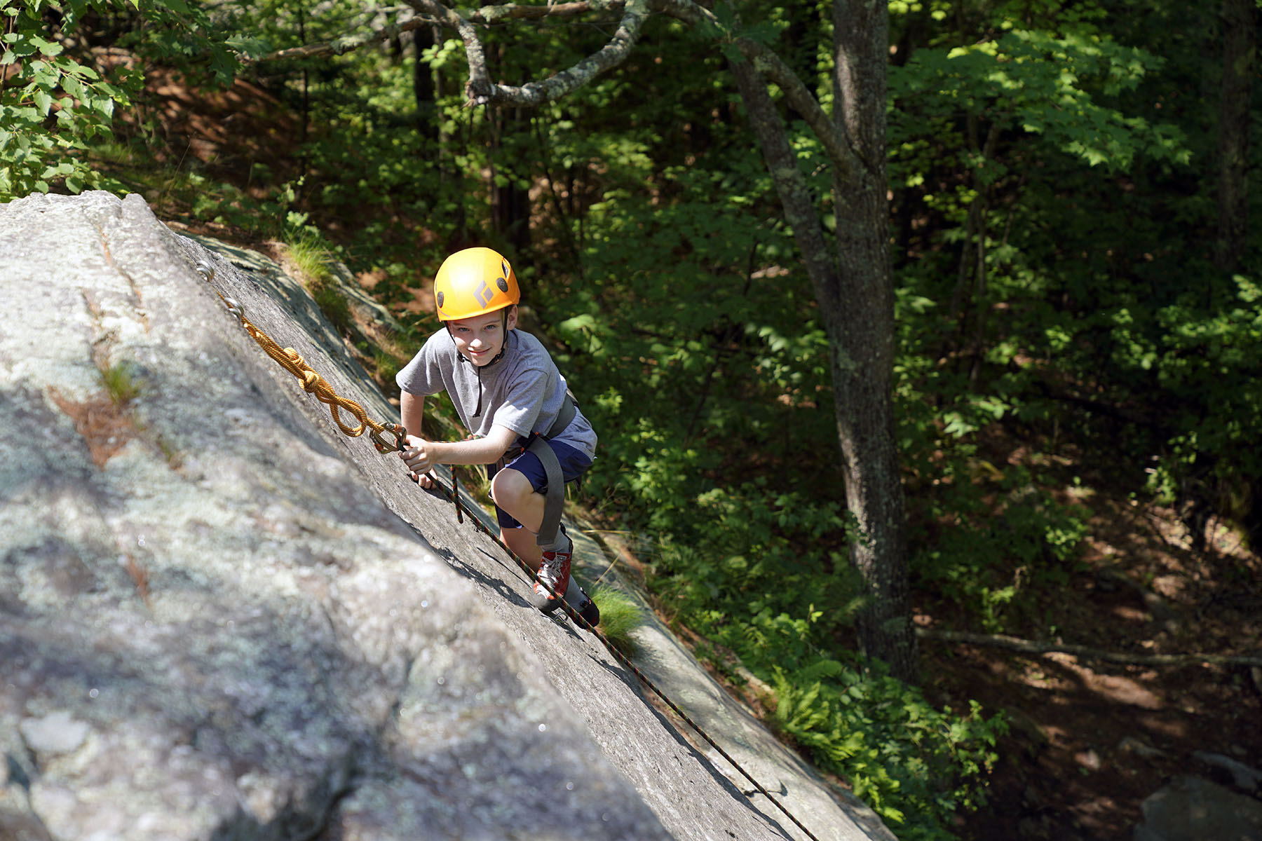Rock Climbing at Camp Mowglis