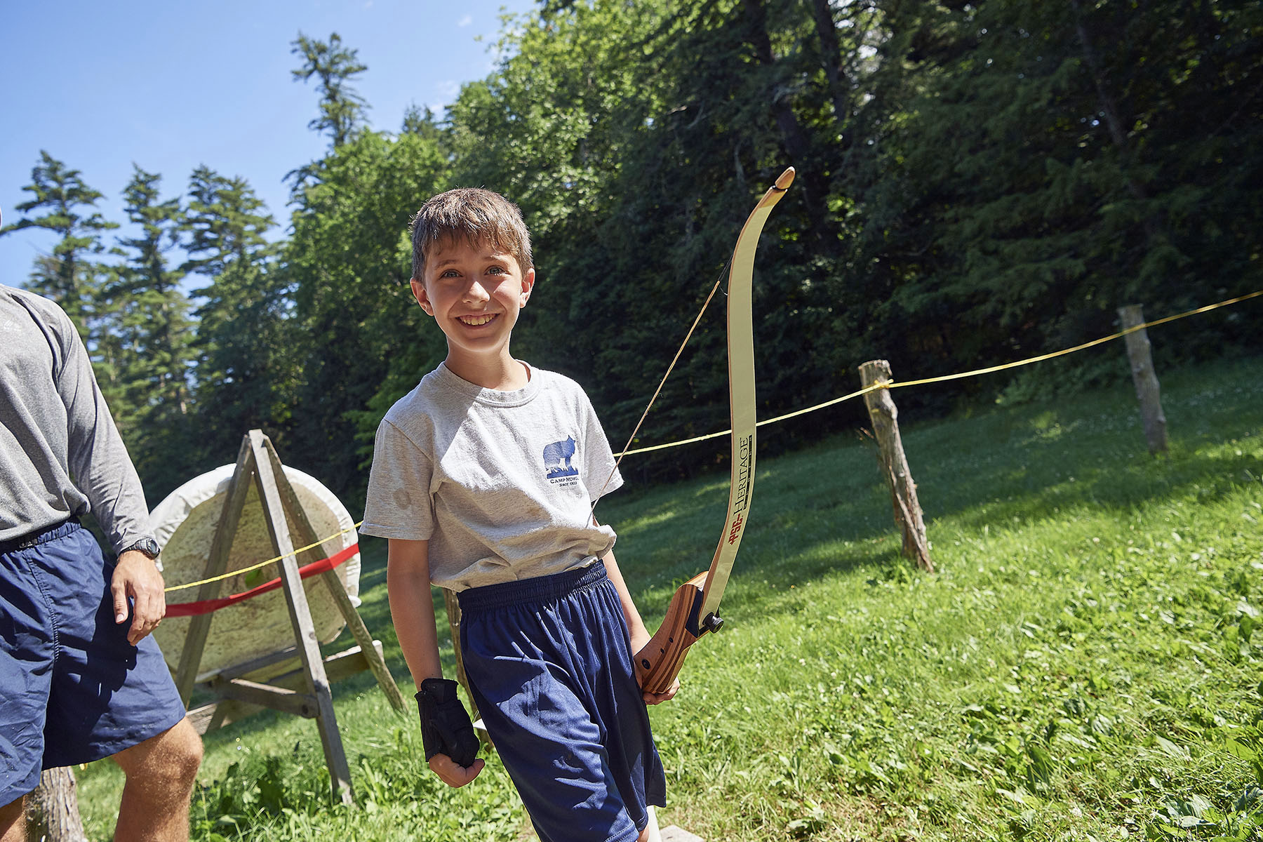 Archery at Camp Mowglis, a New Hampshire Boys Summer Camp